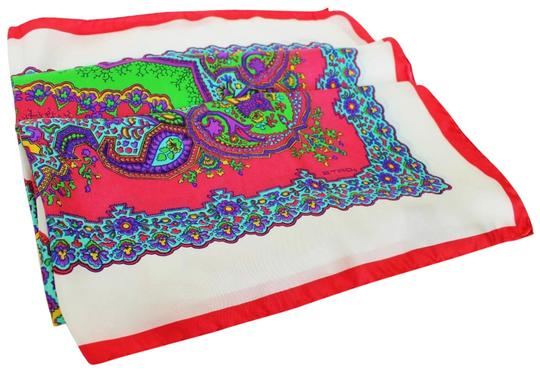 Etro NEW! Multicolor New Silk Square Paisley Made Scarf/Wrap Image 1