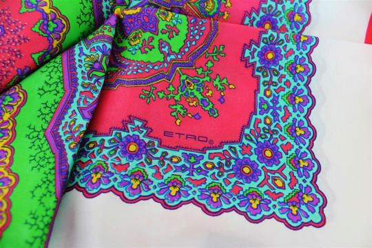 Etro NEW! Multicolor New Silk Square Paisley Made Scarf/Wrap Image 3