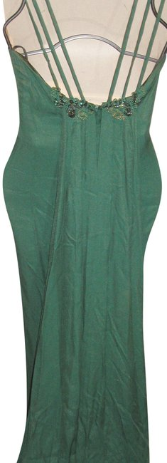 Just Female Train Fitted Embroidered Split Regal Dress Image 2