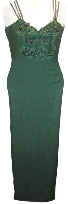 Just Female Train Fitted Embroidered Split Regal Dress Image 4