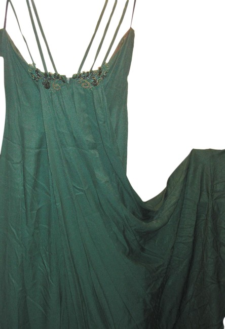 Just Female Train Fitted Embroidered Split Regal Dress Image 6