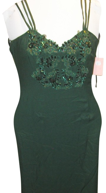 Just Female Train Fitted Embroidered Split Regal Dress Image 7