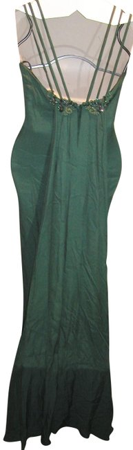 Just Female Train Fitted Embroidered Split Regal Dress Image 8
