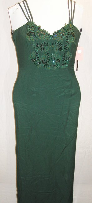 Just Female Train Fitted Embroidered Split Regal Dress Image 9