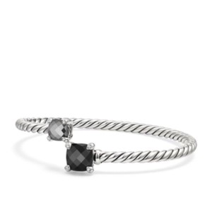 David Yurman Châtelaine Bypass Bracelet With Black Onyx, Hematine & Diamonds