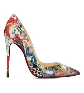 Christian Louboutin Stiletto So Kate Rosa Trash Patent Multi Pumps