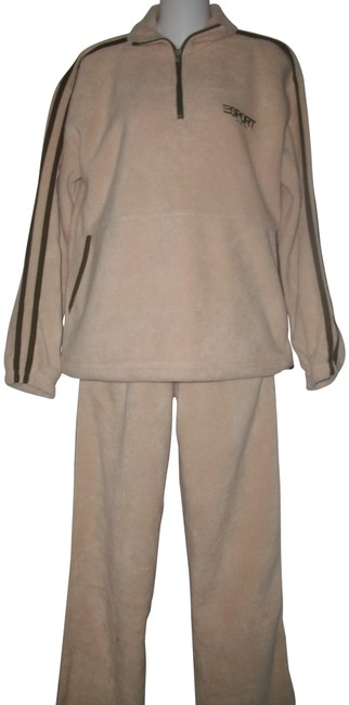 Preload https://img-static.tradesy.com/item/22839211/beige-warm-and-cozy-plush-never-worn-fleece-workout-set-pant-suit-size-10-m-0-1-650-650.jpg