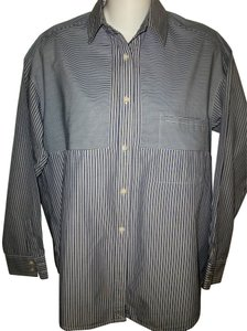Vince Button Down Shirt Blue and White