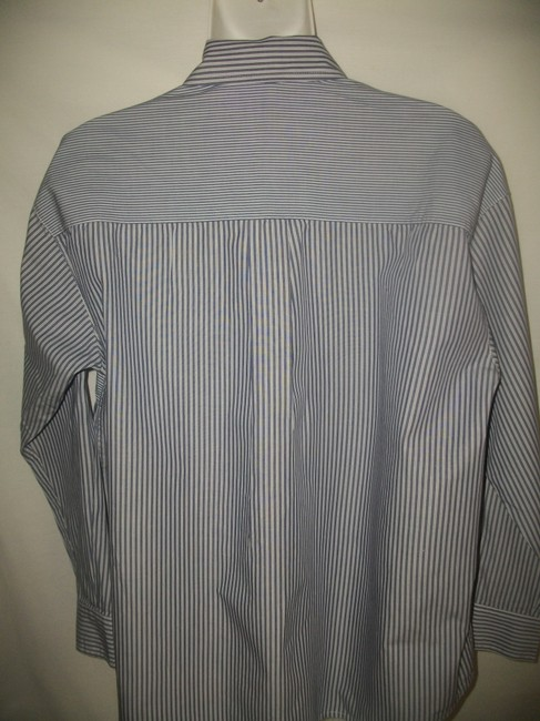 Vince Button Down Shirt Blue and White Image 3