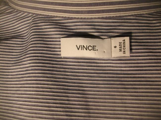 Vince Button Down Shirt Blue and White Image 4