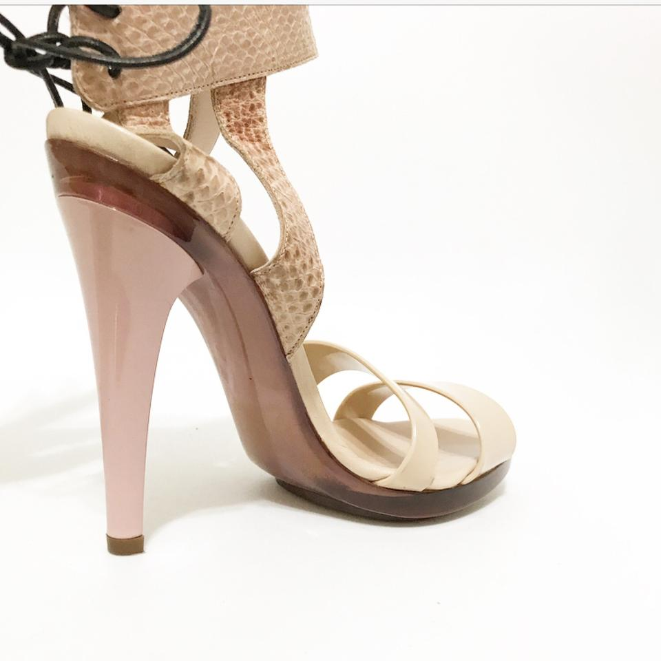 Pink Chloé Embossed Powder Pumps Snake aq7xwFAqS