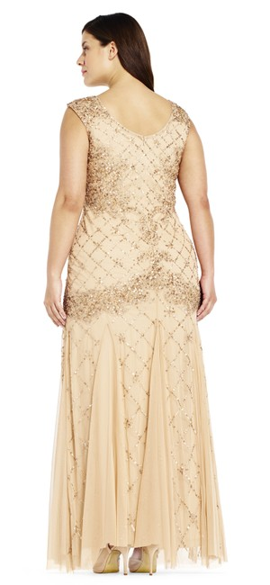 Adrianna Papell Sequin Beaded Mesh Dress Image 2