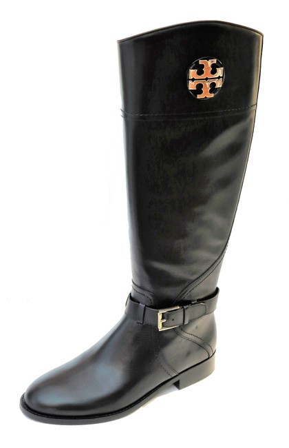 Item - Black W Adeline Riding 20mm Leather Nwb Boots/Booties Size US 7.5 Wide (C, D)
