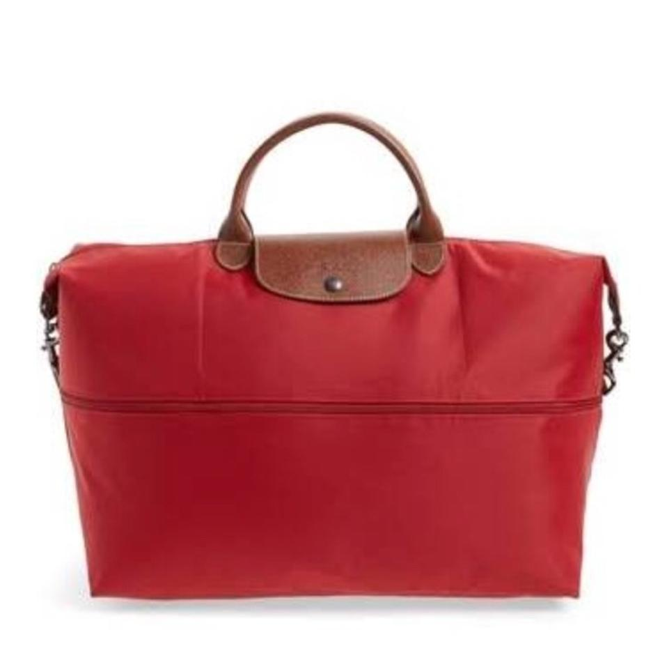 Longchamp Le Pliage 21-inch Expandable Convertible Red Nylon Weekend Travel  Bag c0cf24cdcfede
