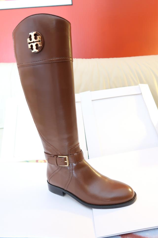 eb3d6c2a9025 Tory Burch Black Adeline Riding 20mm Leather Almond Nwb Boots Booties