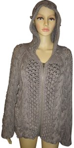 Moda International Cableknit Zipper Hood Warm Victoria's Secret Sweater