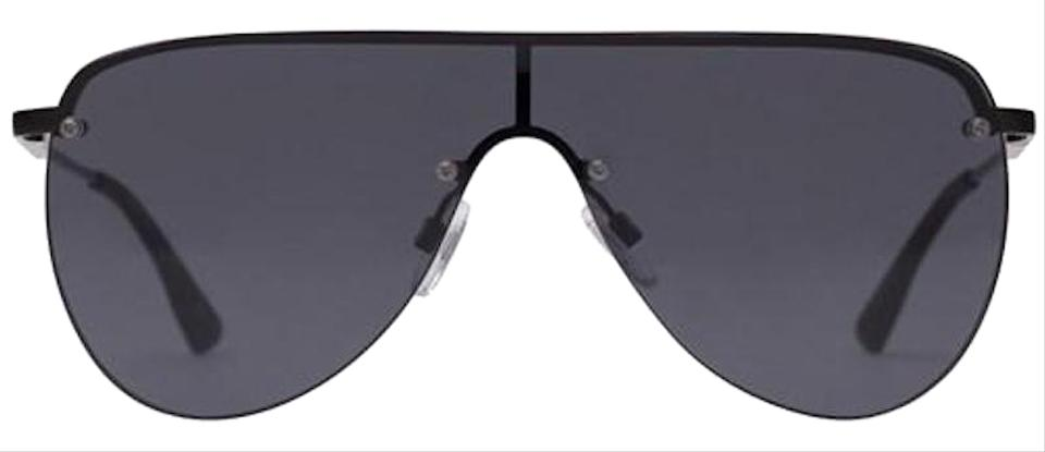 02f47b8a42 Le Specs Black The King Aviator Shield Sunglasses - Tradesy