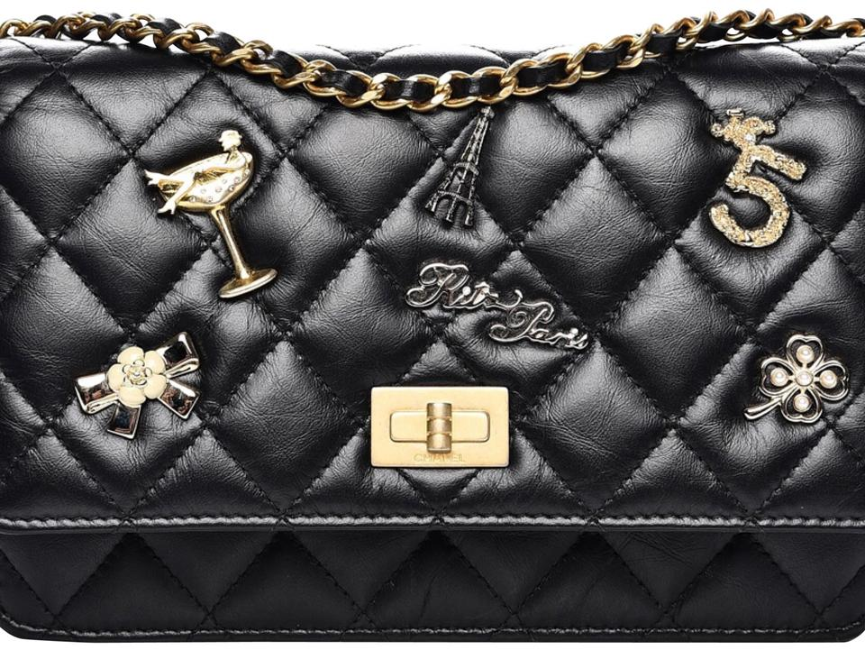 ff0ec8ea8bd1 Chanel Lucky Charm Woc/ Black Aged Calfskin Cross Body Bag - Tradesy