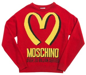 Moschino French Fry Mcdonald 20 Billion Served Jeremy Scott Runway Sweater