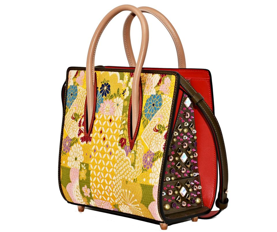 cd94b8df0af Christian Louboutin Paloma Small Pollen/ Brown Leather Satchel
