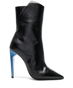 Saint Laurent Freja Stiletto Ankle Ysl black Boots