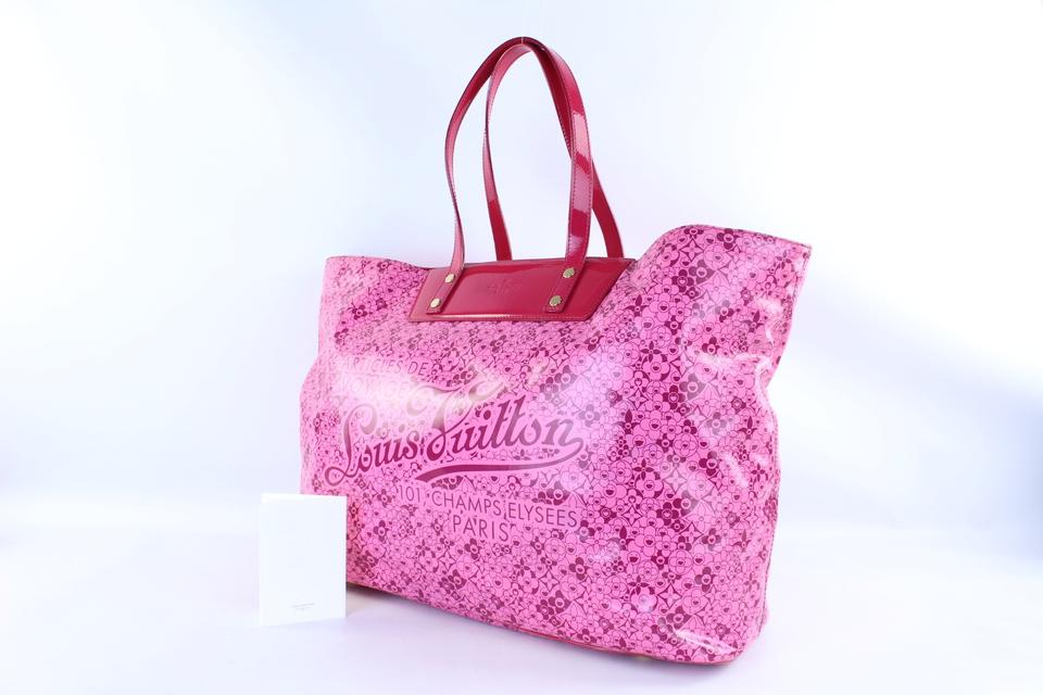 e3edc56a21d65 Louis Vuitton  shopify  Limited Edition Cosmic Tote Gm 223828 Pink Blossom  Shiny Leather Shoulder Bag - Tradesy