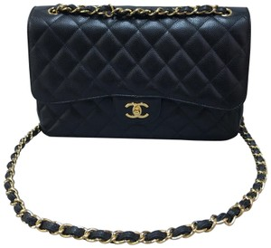 Chanel Caviar Classic Flap Jumbo Shoulder Bag