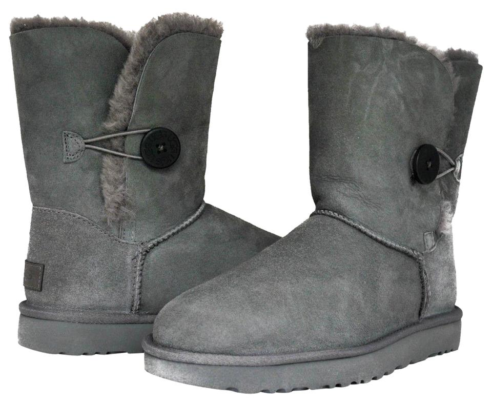 94ef306f10f UGG Australia Grey Women's Bailey Button Ii 1016226 In Boots/Booties Size  US 5 Regular (M, B)