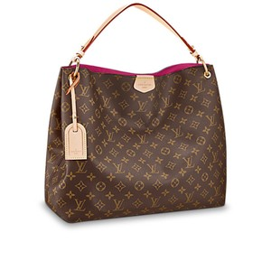 Louis Vuitton European Limited Edition Monogram Leather Gold Hardware Hobo Bag