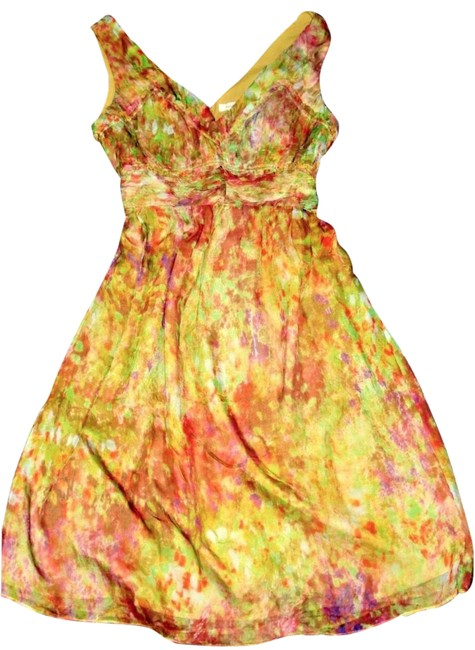 Sundance Multi-color Sleeveless Floral Gathered Detai Silk Printed Party Mid-length Night Out Dress Size 6 (S) Sundance Multi-color Sleeveless Floral Gathered Detai Silk Printed Party Mid-length Night Out Dress Size 6 (S) Image 1
