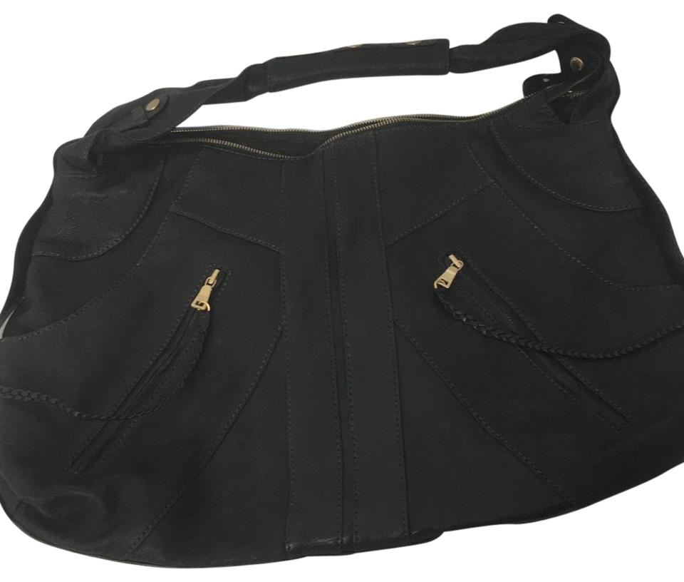 Andrew Marc Hope Extra Large Black Leather Hobo Bag 82 Off Retail