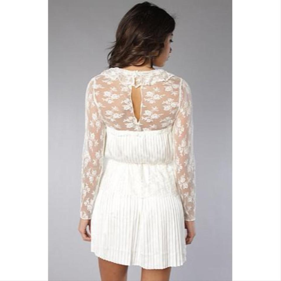 Free People Cream Young Victorian Cocktail Dress Size 2 (XS) - Tradesy