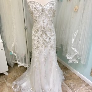 Mori Lee Ivory 3205 Feminine Wedding Dress Size 26 (Plus 3x)