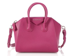 Givenchy Gv.l1221.21 Sugared Chevre Silver Hardware Satchel in MAGENTA PINK
