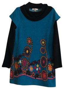 Aryeh short dress turquoise/black on Tradesy