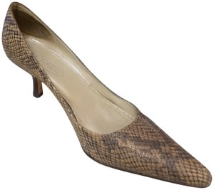 Talbots Snakeskin Pointed Toe Tan/Brown Pumps