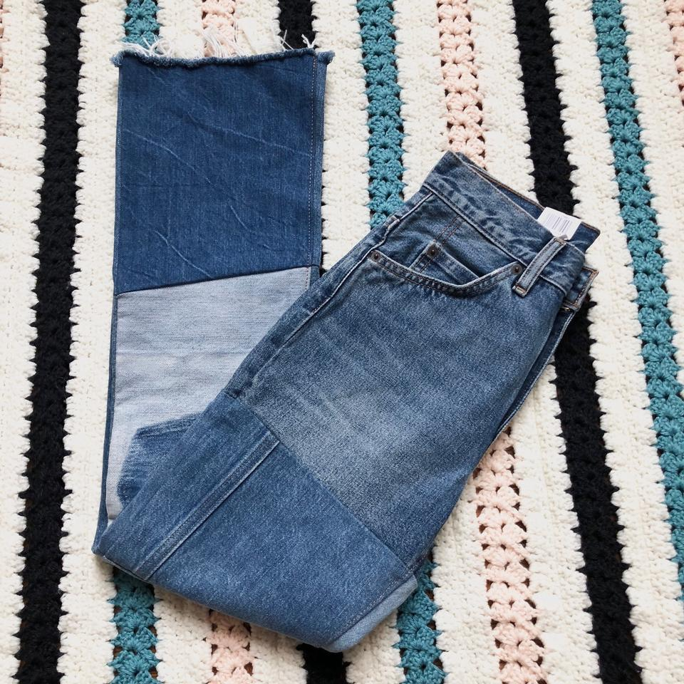 30e10ff6520 Levi's Blue Ultra High-rise 517 Cropped Patchwork Vinyl Revival Boot Cut  Jeans Size 24 (0, XS) - Tradesy
