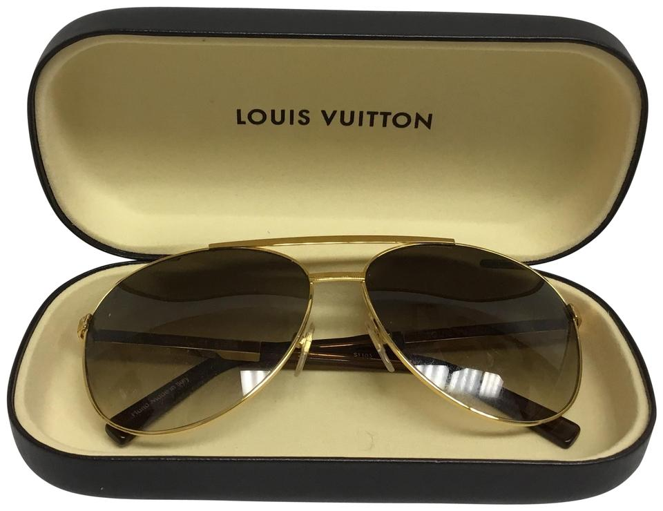 6113a22105364 Louis Vuitton Louis Vuitton Attitude Pilote sunglasses gold Image 0 .