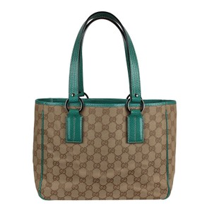 Gucci Gg Leather Soho Tote in Green