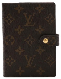 Louis Vuitton Monogram Canvas Brown Small agenda pm ring cover day planner