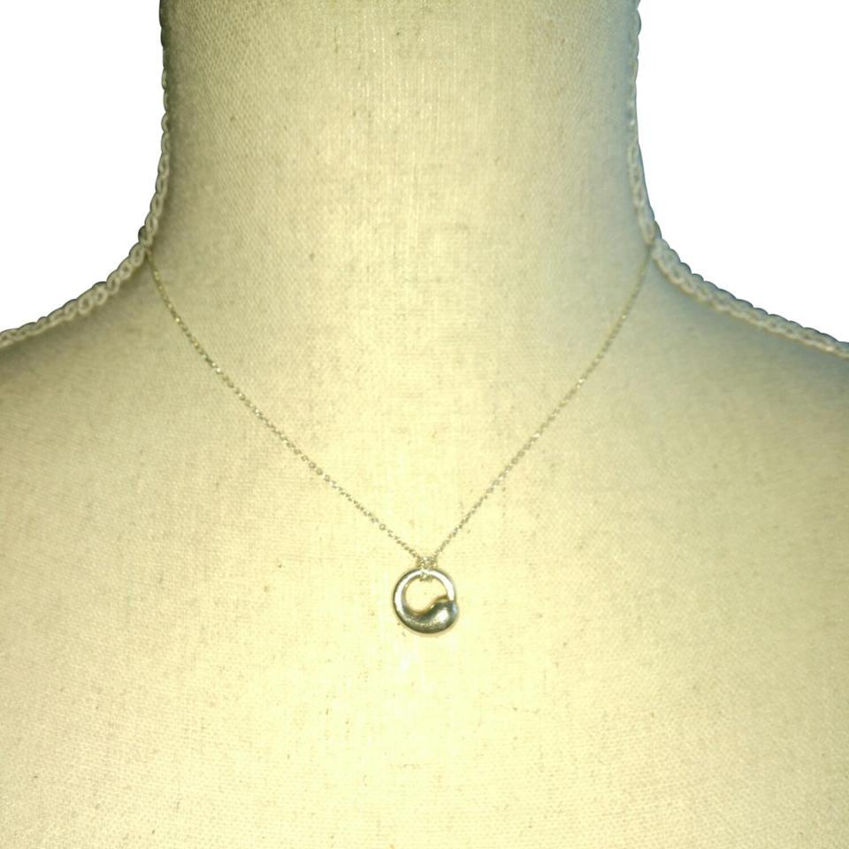 Tiffany co sterling silver eternal circle necklace tradesy eternal circle mozeypictures Choice Image