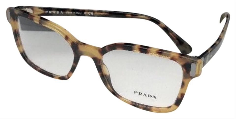 a20240788055 Prada New PRADA Eyeglasses VPR 05T 7SO-1O1 52-18 135 Honey Havana Tortoise  ...