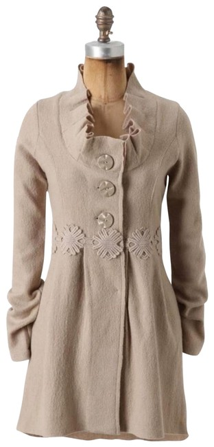 Anthropologie Beige XS Alice In Autumn Sweater By Charlie & Robin Coat Size 2 (XS) Anthropologie Beige XS Alice In Autumn Sweater By Charlie & Robin Coat Size 2 (XS) Image 1