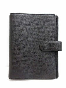 Louis Vuitton Black Taiga Leather Medium agenda MM ring cover day planner