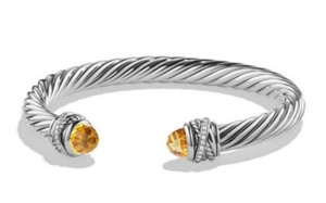 David Yurman DAVID YURMAN CROSSOVER CITRINE and DIAMONDS 7 mm BRACELET