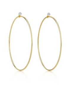 Tiffany & Co. Tiffany & Co. Elsa Peretti 18k Yellow Gold & Diamond Medium Hoop Earri