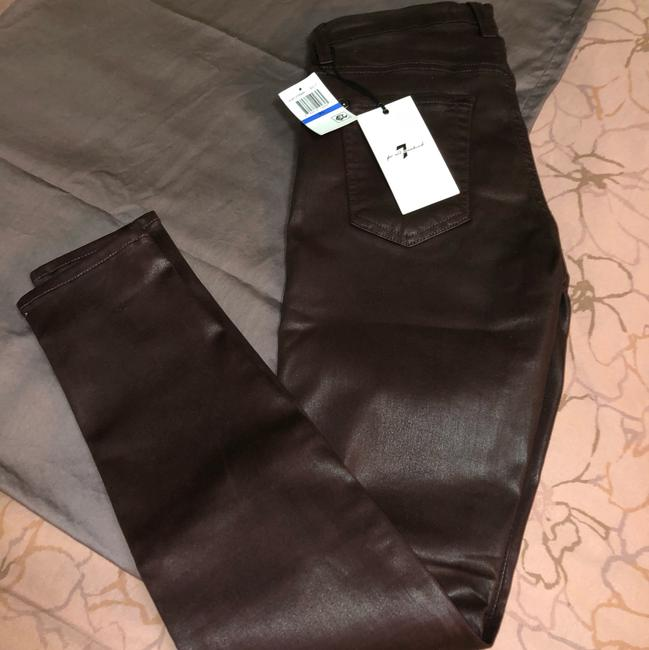 7 For All Mankind Burgundy/Red Coated Super Skinny Jeans Size 25 (2, XS) 7 For All Mankind Burgundy/Red Coated Super Skinny Jeans Size 25 (2, XS) Image 2