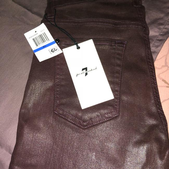 7 For All Mankind Burgundy/Red Coated Super Skinny Jeans Size 25 (2, XS) 7 For All Mankind Burgundy/Red Coated Super Skinny Jeans Size 25 (2, XS) Image 3