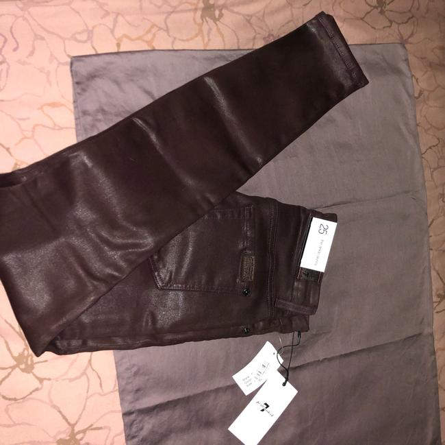 7 For All Mankind Burgundy/Red Coated Super Skinny Jeans Size 25 (2, XS) 7 For All Mankind Burgundy/Red Coated Super Skinny Jeans Size 25 (2, XS) Image 6