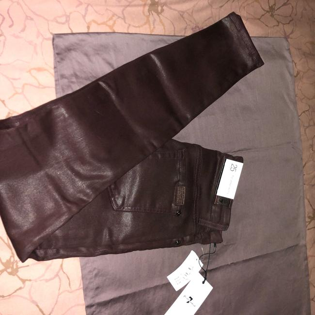 7 For All Mankind Burgundy/Red Coated Super Skinny Jeans Size 25 (2, XS) 7 For All Mankind Burgundy/Red Coated Super Skinny Jeans Size 25 (2, XS) Image 7